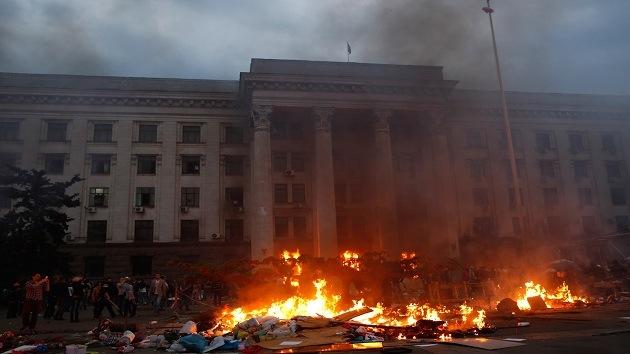 """""""¿Es éste mi pueblo?"""". Impactantes imágenes de la tragedia de Odesa"""