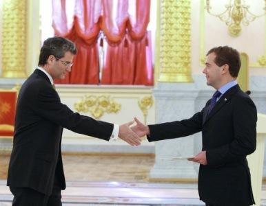 Los nuevos embajadores presentaron sus credenciales al presidente ruso