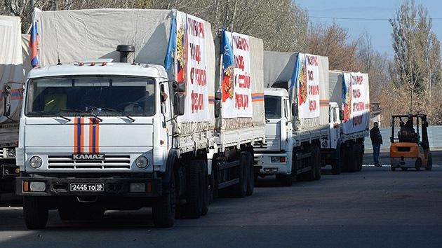El sexto convoy ruso de ayuda humanitaria llega a Lugansk