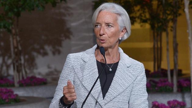 """Impiden hablar a la gerente del FMI por """"promover políticas que dañan a los pobres"""""""
