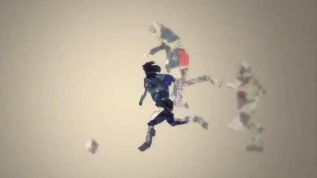 Famoso gol de Maradona a los ingleses en una animación