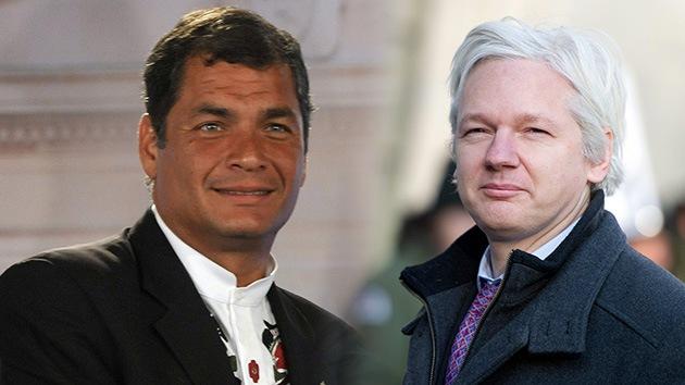 Fuentes: Rafael Correa otorga el asilo político a Julian Assange
