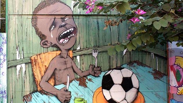 FOTO: Un artista brasileño ha creado la primera imagen viral del Mundial