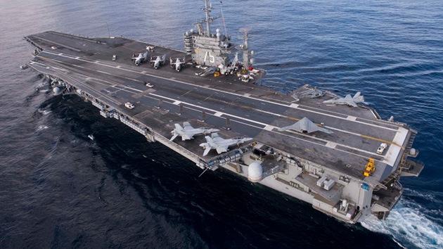 El portaaviones Harry Truman de EE.UU. se dirige al golfo Pérsico
