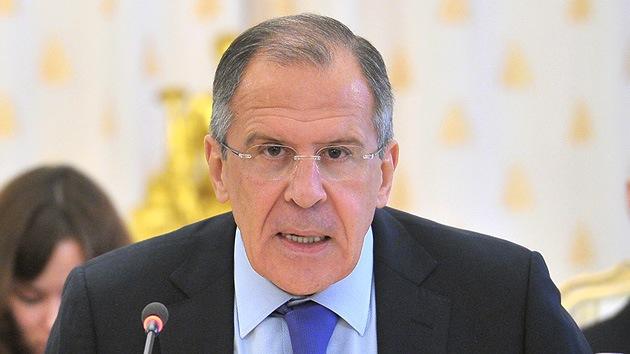 Lavrov: Aprobar una resolución de la ONU con sanciones para Siria es apoyar la revolución