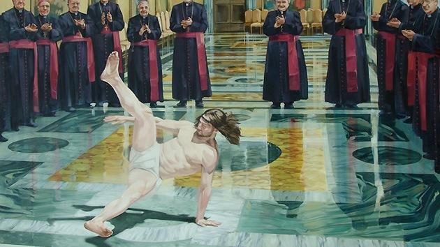 'Jesús baila break dance': mural gigante con Cristo como protagonista aparece en Bristol