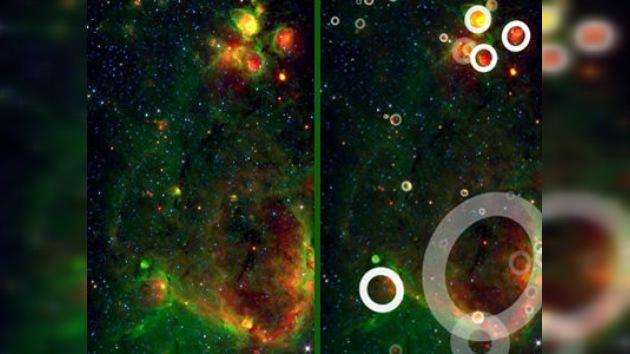 Detectan más de 5.000 'burbujas estelares' en la Vía Láctea
