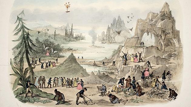 En 1836 EE.UU. estaba en la Luna: ¿Selenitas con alas de murciélago?