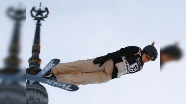Esquí de montaña en la zona urbana de Moscú