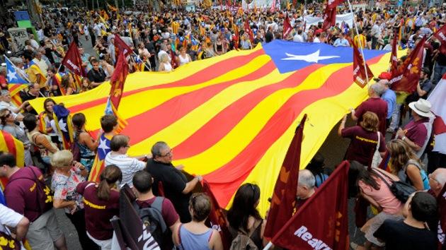 El indepentismo catalán pide un nuevo Estado europeo
