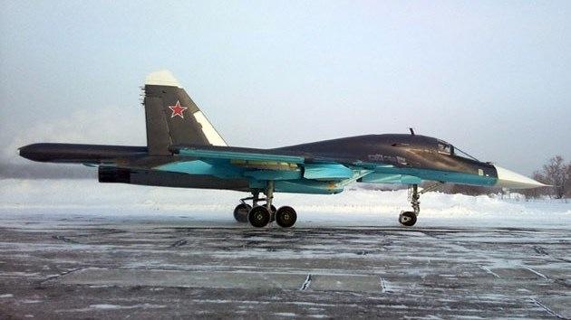 Cinco bombarderos de nueva generación Su-34 se incorporan a las Fuerzas Aéreas rusas