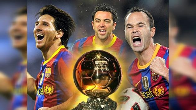 Messi, Iniesta y Xavi: finalistas al Balón de Oro 2010
