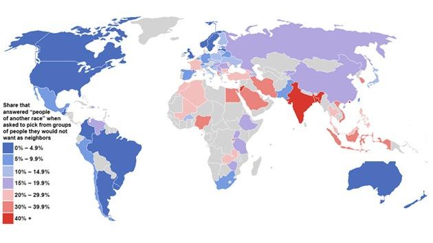 El continente americano, una de las regiones menos racistas del mundo