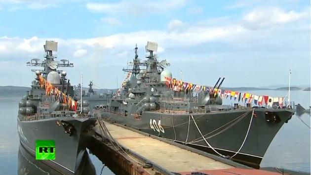VIDEO: Rusia celebra el Día de la Armada
