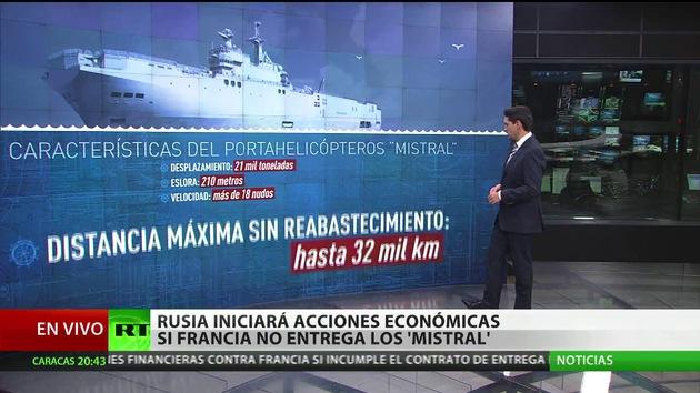 Rusia podrá emprender reclamaciones financieras si Francia no entrega el Mistral