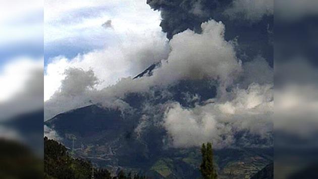 Declaran la alerta naranja en Ecuador por el volcán Tungurahua