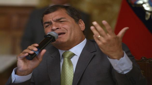 "Correa promete luchar para no pagar ""un solo centavo"" a la petrolera transnacional Oxy"
