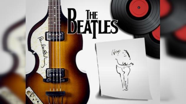 Se venden recuerdos tangibles de los Beatles en Buenos Aires