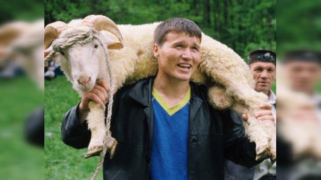Los tártaros festejan su 'fiesta del arado', el Sabantúi