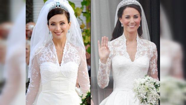 ¿Habrá copiado la duquesa de Cambridge el vestido de novia de la ahijada de Berlusconi?