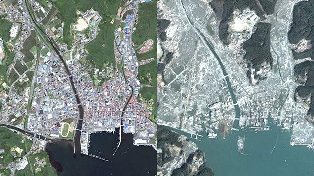 Impactantes fotos de ciudades a lo largo del tiempo en Google Earth