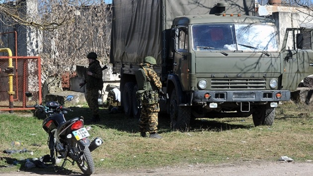 Incautan a los radicales de Kiev 400 kilos de explosivos y armas en la frontera con Crimea