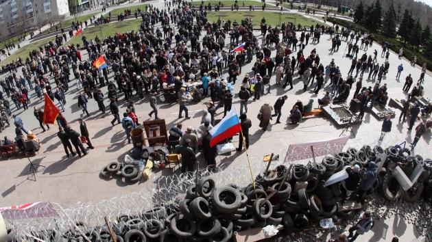 Protestas en el sureste de Ucrania