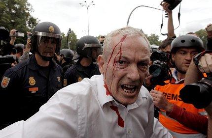 agresiones policiales en rodea el congreso 25s Madrid