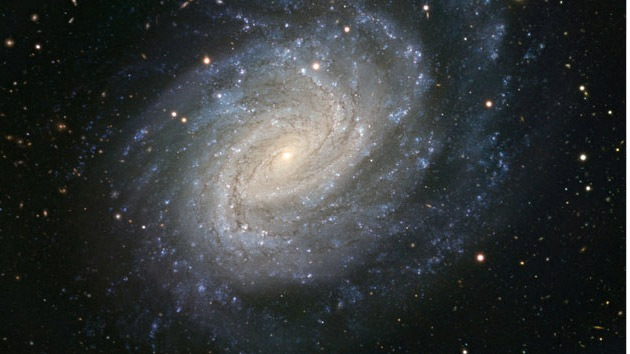 """La imagen """"más precisa"""" de una espiral azul en el Universo"""