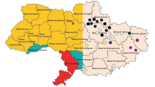 La economía de Ucrania en cinco mapas