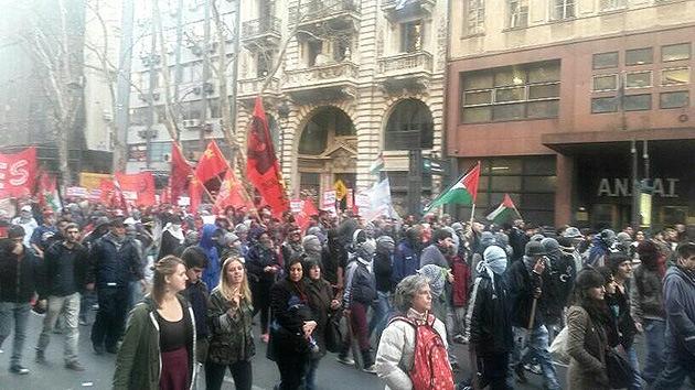 Argentina: Protestas frente a la embajada de Israel por los bombardeos en Gaza