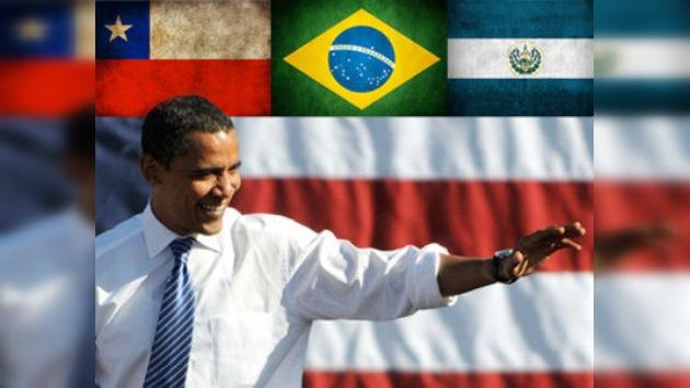 Obama busca potenciar las relaciones con Brasil, Chile y El Salvador