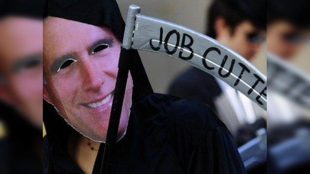 """'Ocupa Wall Street' protesta contra Romney y lo califican de """"cleptócrata"""""""
