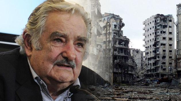 """Mujica: """"El único bombardeo admisible para Siria es con leche en polvo y galletas"""""""