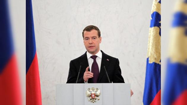 Medvédev pronuncia su mensaje anual a la Asamblea Federal