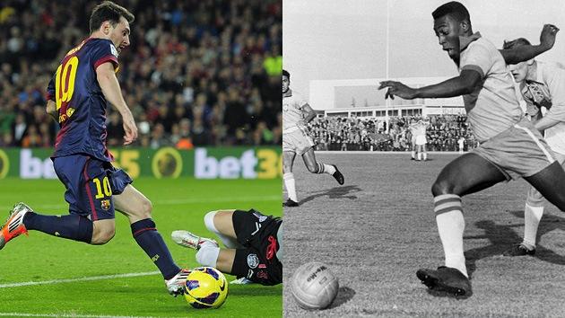 'O Rei' Messi: La Pulga supera a Pelé en cantidad de goles en un año