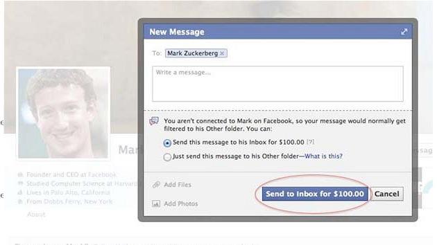 100 dólares es el precio por mandar un mensaje de Facebook a un famoso