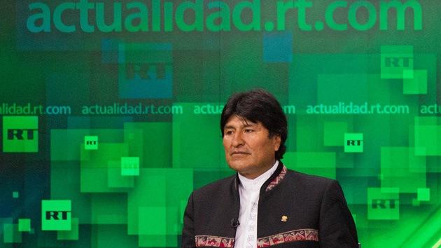 Fotos: Evo Morales visita RT