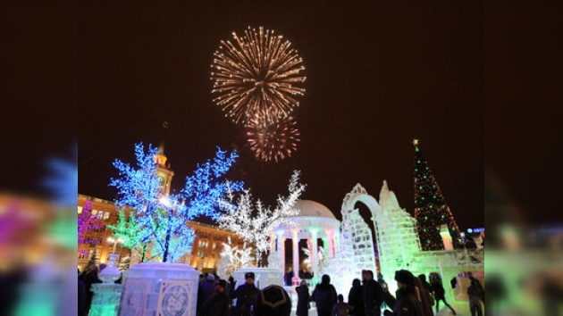 Rusia recibió el Año Nuevo 11 veces
