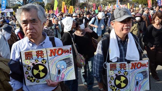 Fukushima dos años después: Multitudinarias protestas antinucleares en Tokio