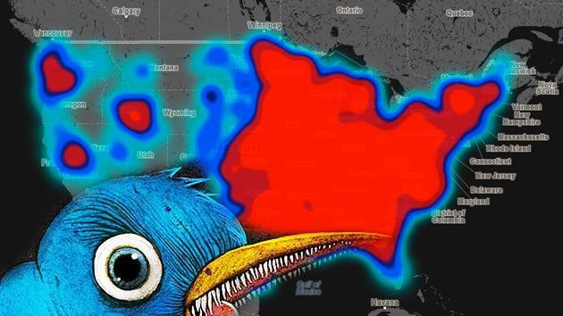 Crean un mapa de EE.UU. para situar el odio racial y la homofobia que aflora en Twitter