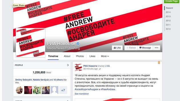 Lanzan campaña para pedir la libertad del fotoperiodista ruso Andréi Stenin, detenido en Ucrania