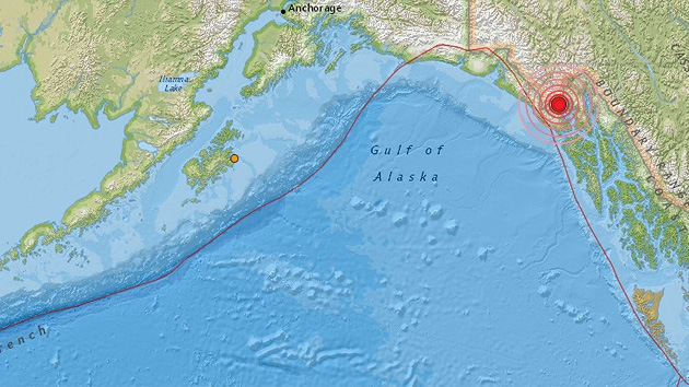 Un sismo de 5,7 sacude la costa de Alaska