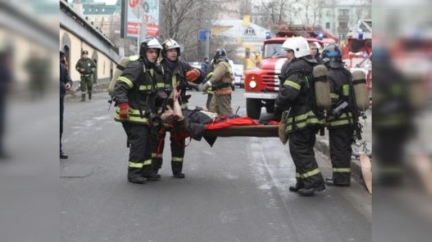 Imágenes captadas minutos después de la segunda explosión
