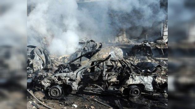 Imágenes del doble atentado mortal contra civiles y policías en Damasco