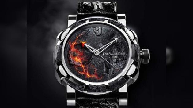 Un reloj inspirado por la erupción islandesa
