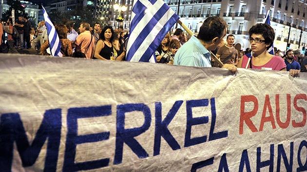 Protestas multitudinarias recibirán a Merkel en Grecia