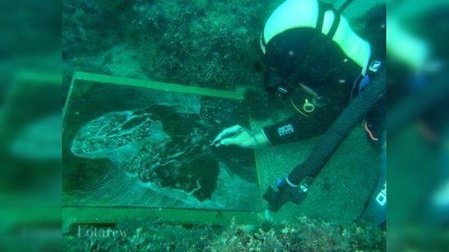 Pintura submarina para el Día Mundial del Agua