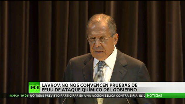 """Lavrov: """"Datos de EE.UU. sobre el uso de armas químicas en Siria no son concretos"""""""