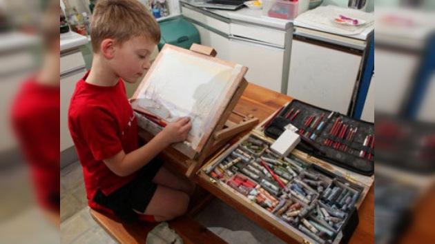 Un pintor británico de 7 años gana 150.000 libras esterlinas en media hora